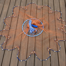 Cast net 3-7.2M Easy to throw frisbee american style fishing net hand throw network fishing tools outdoor sports product