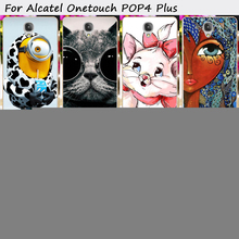 Cell Phone Skin Cover For Alcatel OneTouch POP 4 Plus 5.5 inch Pop 4+ 5056M Cases Cute Style Soft TPU Back Cover Skin Shield
