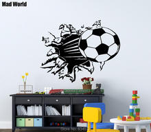 Mad World-Soccer Ball Football Wall Art Stickers Wall Decal Home DIY Decoration Removable Room Decor Wall Stickers