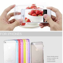 Transparent Clear Soft Silicon Gel TPU Case For Apple iPhone 5 5s SE Back Cover Ultra Thin Phone Bag with Dust plug