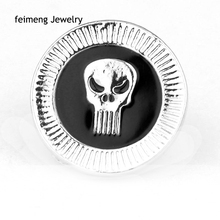 Hot Sales Of Film Design Style Of Gothic Punk Al Simmons Spawning Enamel Brooch Pin Skulls Silver Brooch Pins Gift