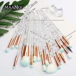 MAANGE Pro 4-20 шт алмазные кисти для макияжа Набор веер порошок контур теней для век Красота Косметика красочный для макияжа инструмент Maquiagem