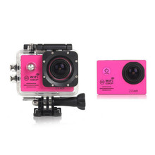 2017 New International WIFI 1080P HD Sports Recorder Camera Action Car Waterproof Pro Camcorder Helmet Sport DV Cam Camera Pink(China)