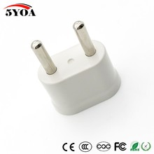 2pcs US USA to EU EURO Europe Travel Power Plug Adapter Charger Converter for USA converter White Schuko