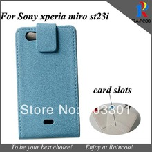 Brand New Stone Pattern & Lychee pattern phone cases for sony xperia st23i, pu leather wallet cover,opp bag packing