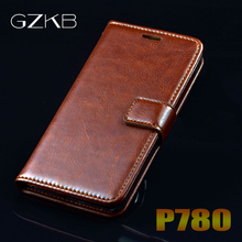 Buy Lenovo P780 Case Cover GZKB Luxury Leather Flip Case Lenovo P780 P 780 Ultra Thin Business Wallet Phone Bags Case Cover for $4.19 in AliExpress store