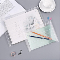 A4A5 PP Transparent Document Zipper Bag Office School Stationery File Receive Bags Environmental Papers Receiving Supply Bag