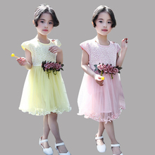 Baby Dresses For Girls Sundresses Lace Tulle Princess Dresses For Party And Wedding Dovetail Toddlers Prom Ball Gowns 18M-8Years