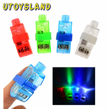 4Pcs/ Lot LED Finger Lights Glowing Dazzle Colour Laser Emitting Lamps Christmas Wedding Celebration Festival Party deco