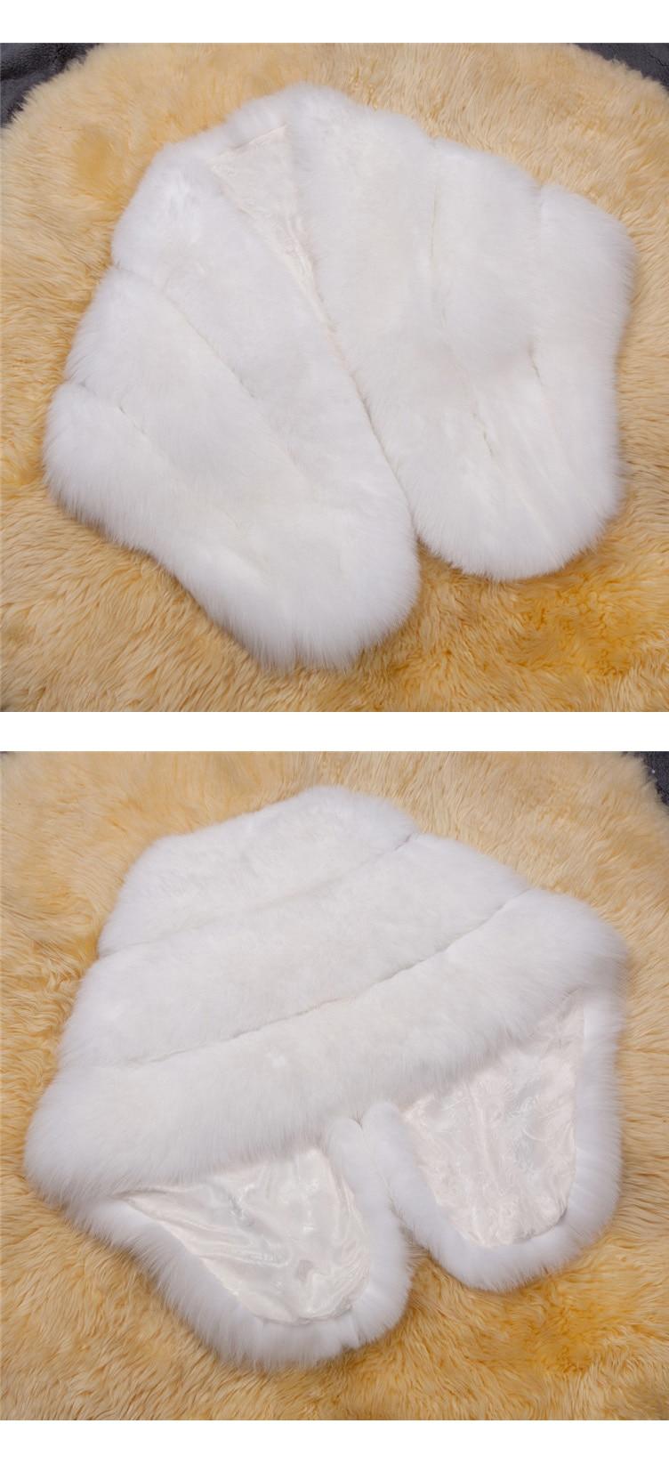 2018 Hcyo Korean version of the imitation of rabbit fur shawl imitation water mane fur grass cloak vest women's coat (11)