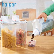 2L Plastic Cereal Dispenser Storage Box Kitchen Food Grain Rice Container Nice u70619