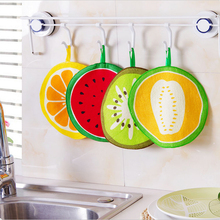 Hanging Fruit Pattern Cartoon Towel Kitchen Towel cloth With Water Absorbing Cloth Towel Handkerchief For Children aTRQ0310(China)