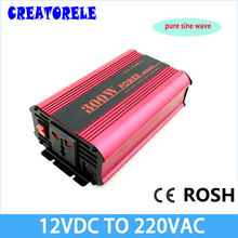 pure sine wave inverter dc-ac 12v to 220v inversor grid tie voltage transformer converter frequency grid tie powerr supply cheap(China)