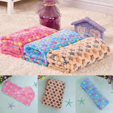 Cute Floral Star Print Pet Warm Mat Cat Dog Puppy Fleece Soft Warm Blanket Beds Mat Sleep Mat for Small Large Dog Pets S M L