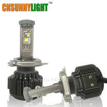 CNSUNNYLIGHT H4 Hi/Lo H7 H11 9005 9006 Led Car Headlights 8000lm 3000K 4300K 6000K High Brightness Auto Lights Conversion Kit(China)