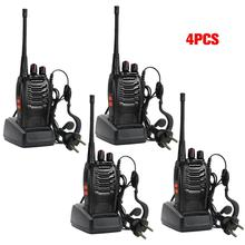 4 x Baofeng BF-888S Long Range Walkie Talkie UHF 400-470MHZ 2-Way Radio 16CH+earpiece+moscow stock