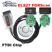 Newest OBD2 Code Reader ELS27 FORScan Works For Ford/Mazfa/Lincoln/Mercury Green PCB FTDI Chip+PIC24HJ128GP Better Than ELM327