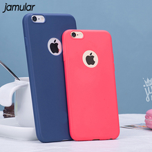 JAMULAR Candy Color Soft TPU Silicone Case for iphone 8 7 6 6S Plus Cover Thin Phone Cover for iphone 7 Plus 6 6S Case Coque(China)