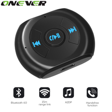A2DP 3.5mm Jack Bluetooth Car Kit Car Wireless Bluetooth 4.0 AUX Audio Music Receiver Adapter with Microphone for Cell Phone(China)