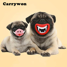 Carrywon Funny Pets Accessories Squeak Dogs Toys Durable Safe Big Or Devil's Lip Sound Puppy Dog Playing/Chewing Toy