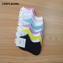 2017 summer low cut ped sock colorful Simple Asakuchi Thin socks Non-slip Silica gel Invisible Candy colors All-match