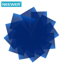 Neewer 12 Pack 8.5x11 inches/21x28cm Transparent Color Correction Lighting Gel Filter Set for Photo Studio Strobe Flashlight