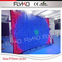 led the lamp 2x3m P7 background stage decoration led solar curtain lights