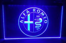 tyr13 Alfa Romeo Car Services Parts beer bar pub club 3d signs LED Neon Light Sign home decor shop crafts(China)