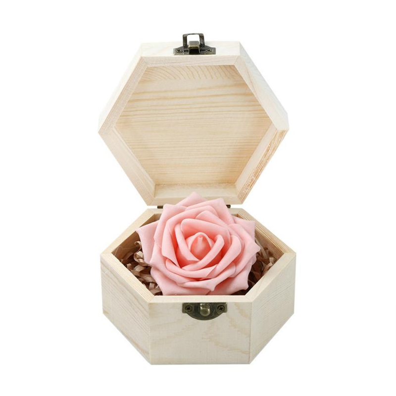 2018 new Fashion Portable Heart Shaped Wooden Storage Box Jewelry Wedding Gift Case Reusable  Box Hot selling good quality C020804