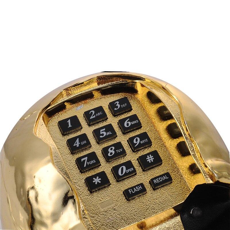 Newest telefone LED light Skull Skeleton Telephone Flashing Eyes