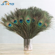 10PCS Natural Peacock Feather 25-30cm Clothing Decoration Plumage Fashion Crafts Beautiful Decorative(China)
