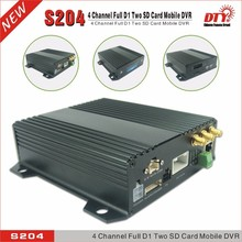 car mobil dvr manufacturer, dual SD card 4 channels 3g gps internal dvr, S204-3G