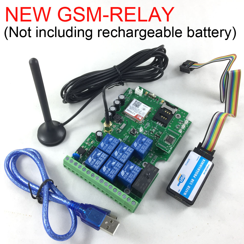 Free shipping New Version Seven relay output GSM remote control board Not including rechargeable battery<br>