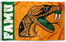 Florida A&M University Rattlers Flag FAMU Large Outdoor Banner Flag 3' x 5' Banner brass metal holes Flag(China)