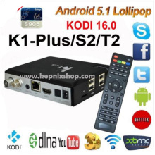 K1 Plus S2 T2 Android TV Box CAM Amlogic S905 Quad Core Hybrid Set Top Box k1 plus s2 dvb-t2 android 1G 8G Kodi H.265 KII PRO