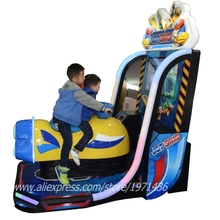 Very Exciting Kids Coin Operated Drive Boat Airship Video Simulator Racing Game Machine(China)