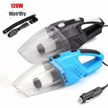 Handheld Wet & Dry Dual Use Car Vacuum Cleaner Portable Rechargeable  Auto Home DC12V 120W Black Blue