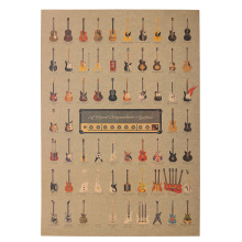 1 Pcs Guitar World Vintage Poster Vintage Wallpaper Wall Stickers Home Decor