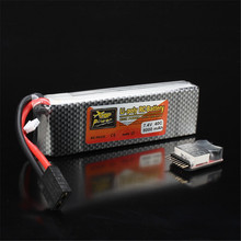 Rechargeable Lipo Battery ZOP Power 7.4V 8000mAh 2S 40C Lipo Battery For TRX Plug With Battery Alarm For Traxxas