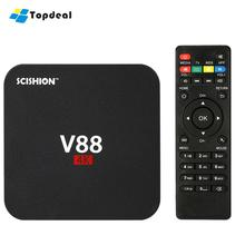V88 Smart Android 6.0 TV Box RK3229 Quad Core 1GB 8GB 2.4G WIFI Miracast With KODI 16.1 XBMC HD Media Player Mini PC Set top box