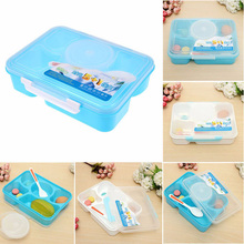 Large Capacity Bento Lunch Food Container Dinnerware Sets PP Plastic Singel Layer Outdoor Picnic Lunch Storage Box Tableware(China)