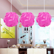 30pcs 25cm Promotion PP DIY Modern Pendant Ball Novel IQ lamp Shade Jigsaw Puzzle Pendants Lights LED Ceiling Lampshade For Bar