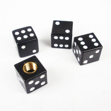 4PCS  BlackDice Car Trunk Bike Wheel Rims  Cap Mountain Bike Tire Air Valve Stem Dust Caps Bicycle Valve Accessories