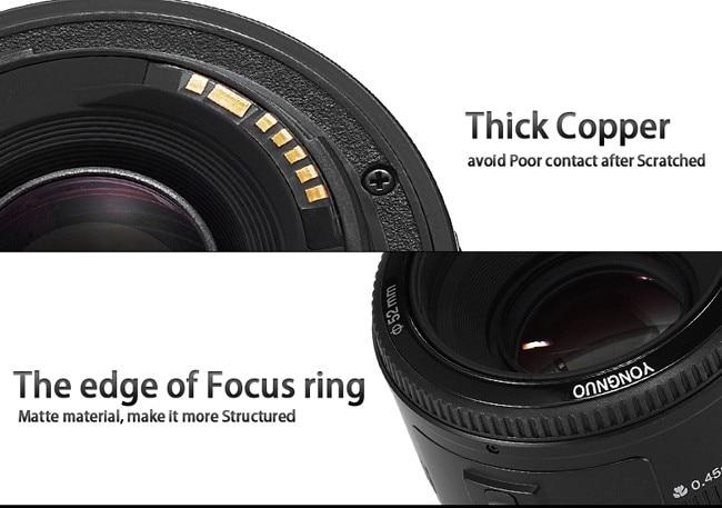 YONGNUO YN50mm F1.8 Camera Lens EF 50mm for Canon Aperture Auto Focus Lenses For EOS DSLR 700D 750D 800D 5D Mark II IV 10D 1300 14