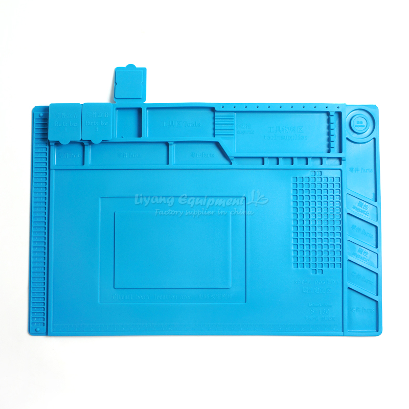 Anti-static Silicone mat Magnetic Heat-resistant Soldering Mat BGA Soldering Station Insulation Pad Repair Tools<br>