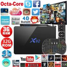 X92 3G/32G Android 7.1 TV Box 2G/16G Amlogic S912 Octa Core 4K H.265 2.4G/5GHz Dual WiFi IPTV Media Player Smart BOX - Chycet Franchise Store store