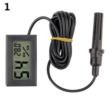 Portable Mini LCD Thermometer Hygrometer Temperature Humidity Meter Probe