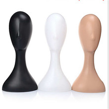 High Quality Female Mannequin Plastic Wig Hair Hat Scarf Manikin Head Display Model Stand Practical Training Head Color Randomly(China)
