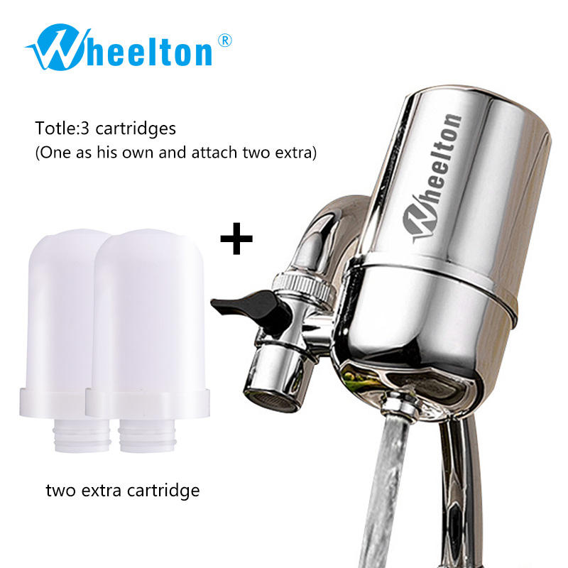 Wheelton Kitchen Water Filter Faucet(F-102-2E) Remove Water Contaminants Alkaline Water Ceramic Cartridge Purifier For Household<br>