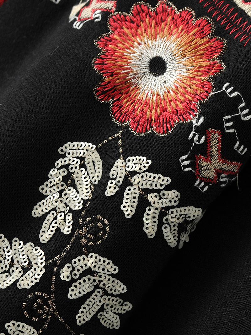 ShejoinSheenjoy Hooded Long Sleeve Loose Hoodies Women Fashion Black Vintage Floral Geometric Embroidery Sweatshirt Pullovers (17)